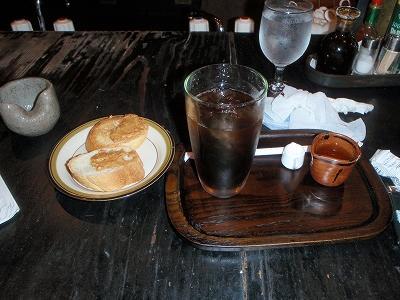 喫茶びこうせん アイスコーヒーとトースト