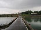 藤井寺へ吉野川を渡る道