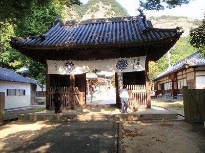 八栗寺山門